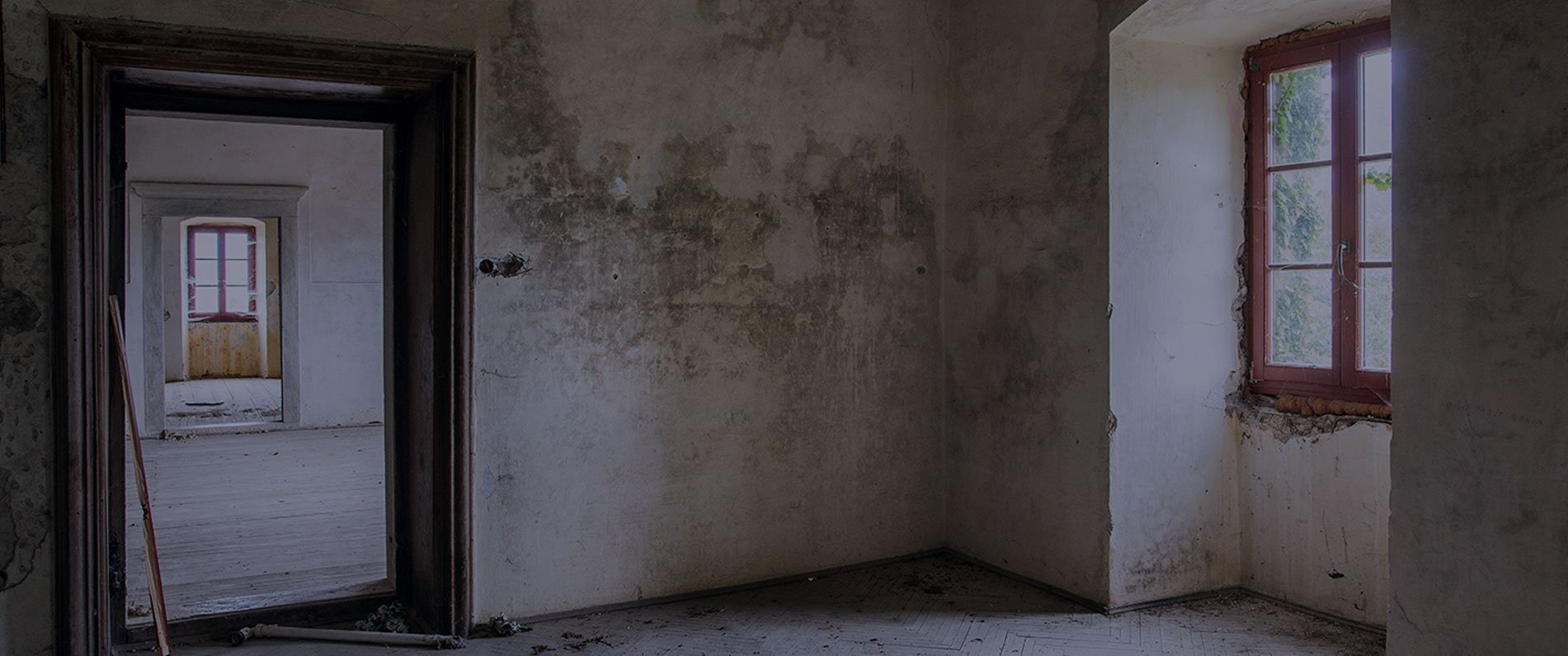 walls with water damage