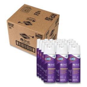4 in One Disinfectant and Sanitizer, Lavender, 14 oz Aerosol, 12/Carton